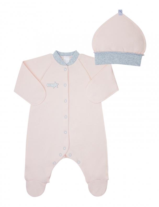 Комплект (комбинезон+шапочка) SMIL 109060 Розовый