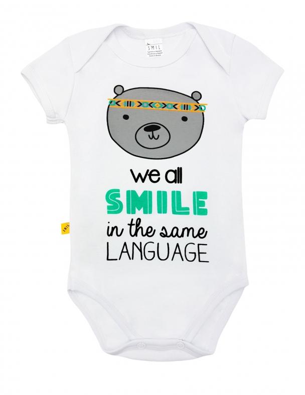 Боді-футболка SMIL 121030 Білий - изображение 1