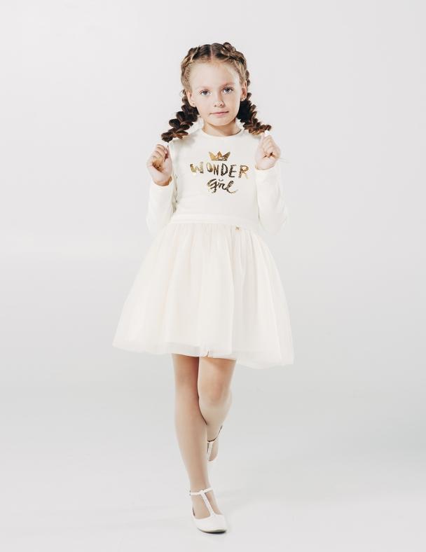 Платье SMIL 120161 Кремовый