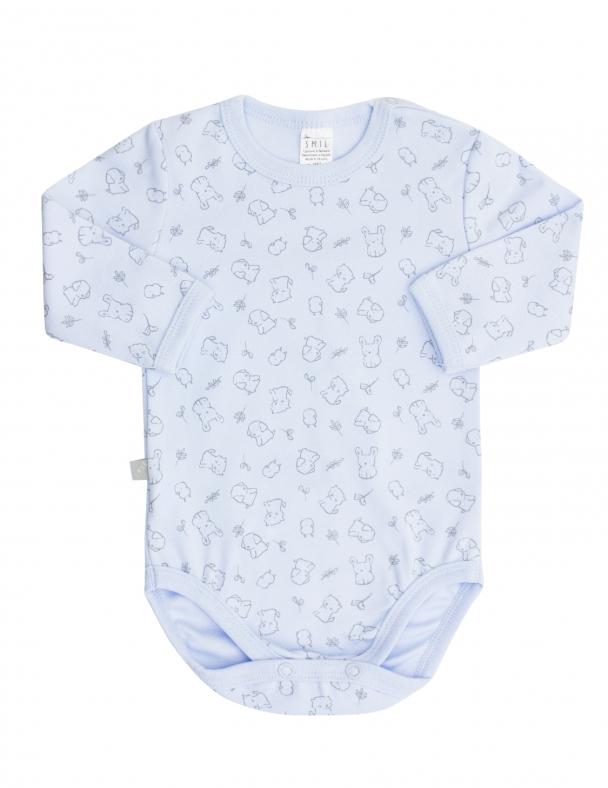 Боди-футболка д.р. SMIL 102451 Рисунок на голубом