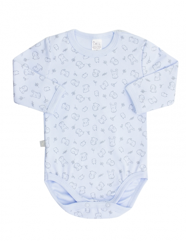 Боди-футболка д.р. 102451 Рисунок на голубом