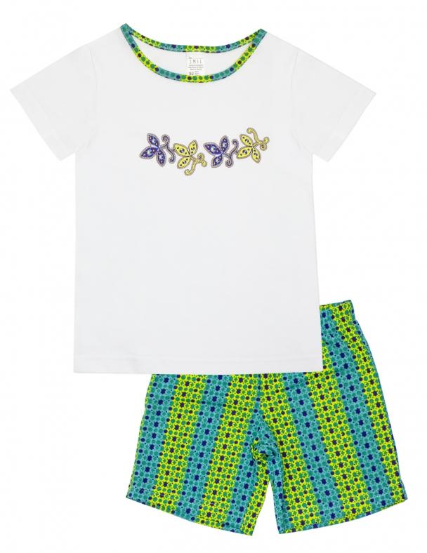 Піжама (футболка корот. Рукав + шорти) SMIL 104390 Білий