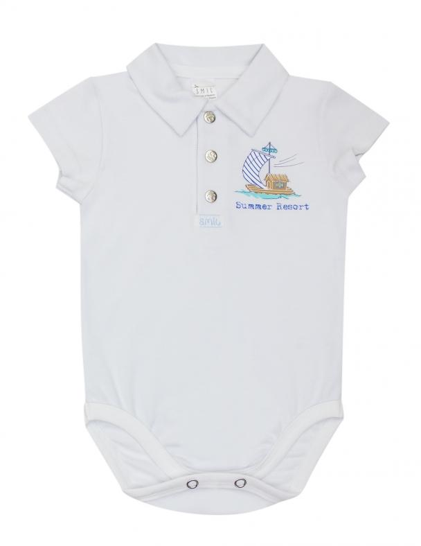 Боди-футболка к/р SMIL 102676 Белый