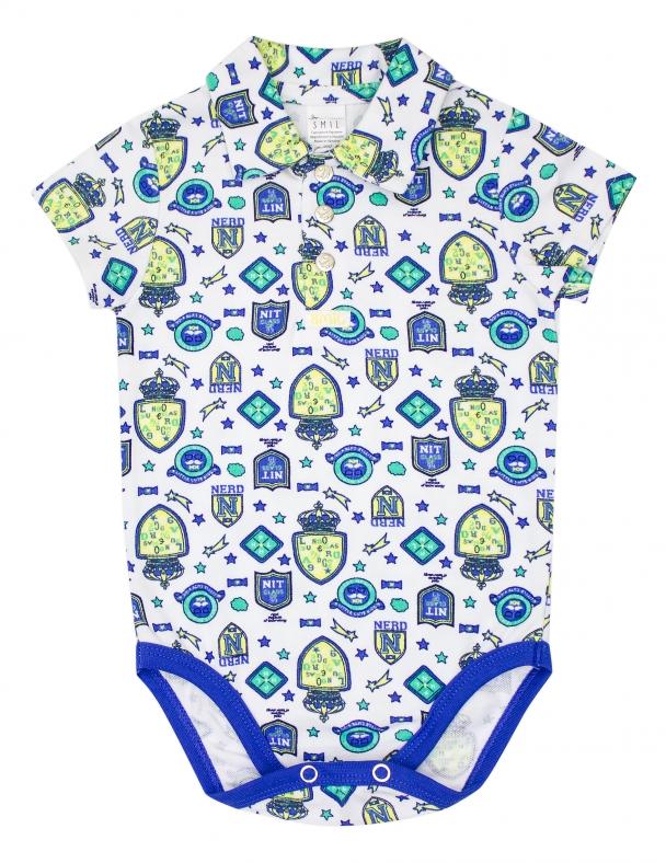 Боди-футболка к/р SMIL 102676 Рисунок