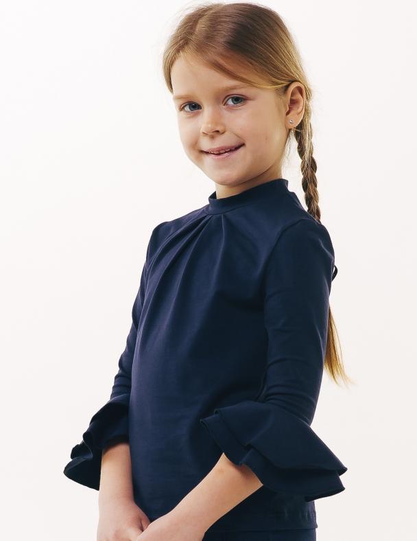 Блуза рукав 3/4 SMIL 114642 Темно-синий