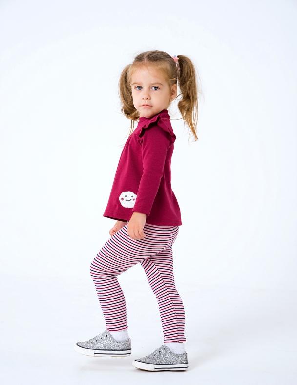 Лосини SMIL 115382 Рожево-бордова смужка