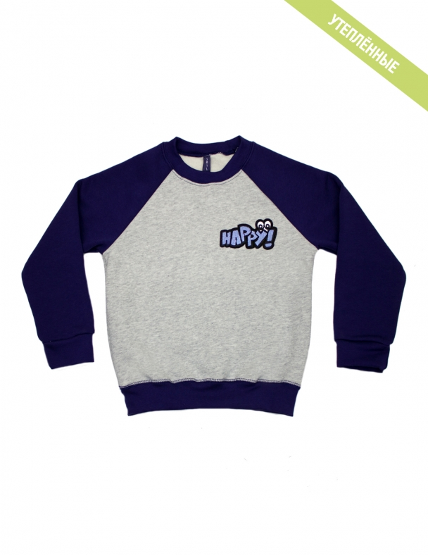 Пуловер SMIL 116425 Серый меланж