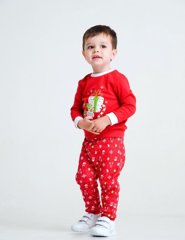 Комплект (свитшот,брюки) в коробке 109978 Красный