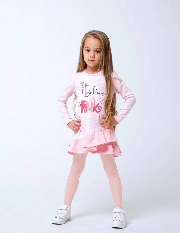 Платье SMIL 120256 Розовая полоска