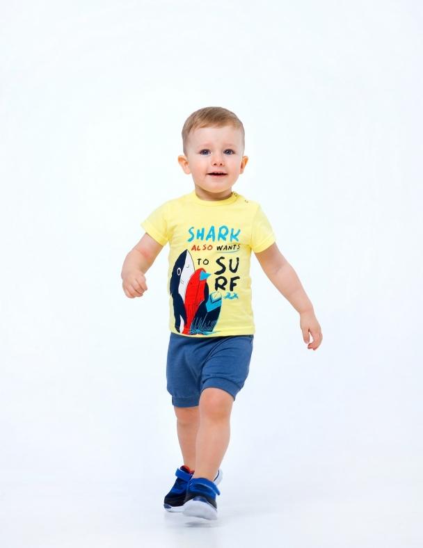 Комплект (футболка+шорты) SMIL 113266-1 Желтый