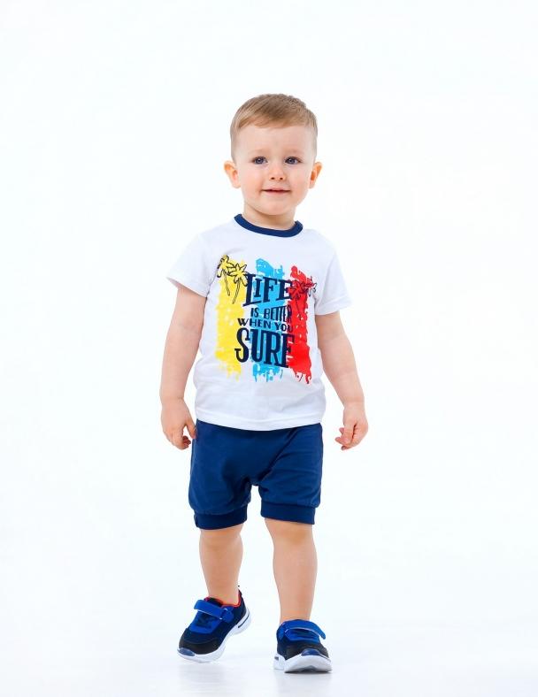 Комплект (футболка+шорты) SMIL 113266 Белый