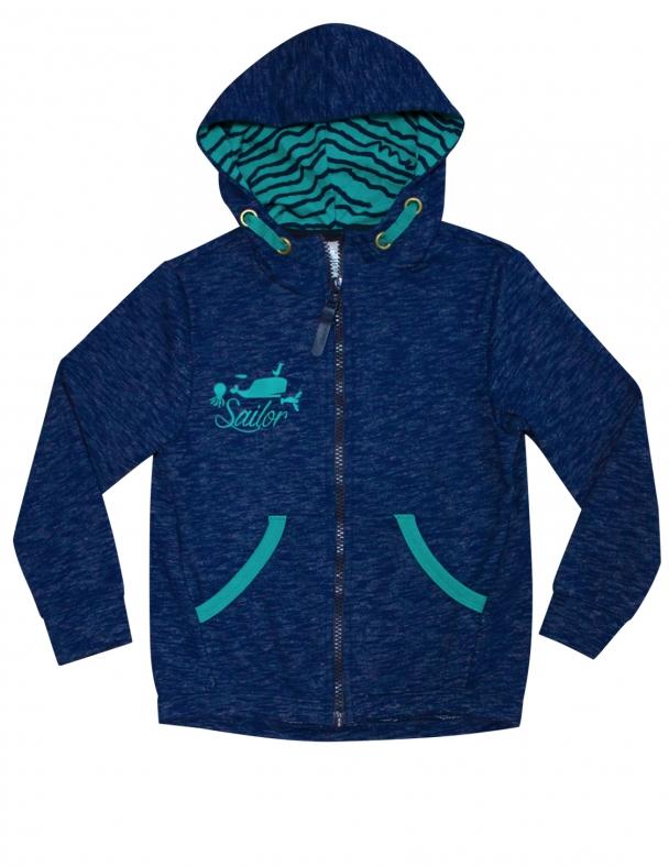 Куртка з капюшоном SMIL 116328 Темно-синій меланж