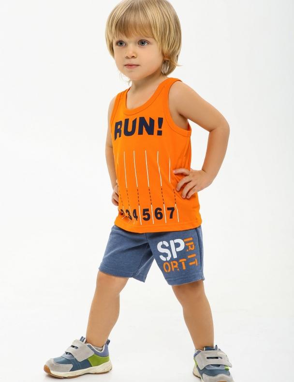 Комплект (майка-шорты) SMIL 113271 Оранжевый