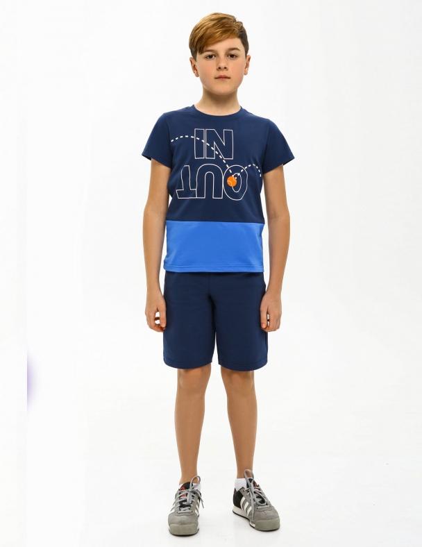 Футболка SMIL 110585 Серо-синий - изображение 1