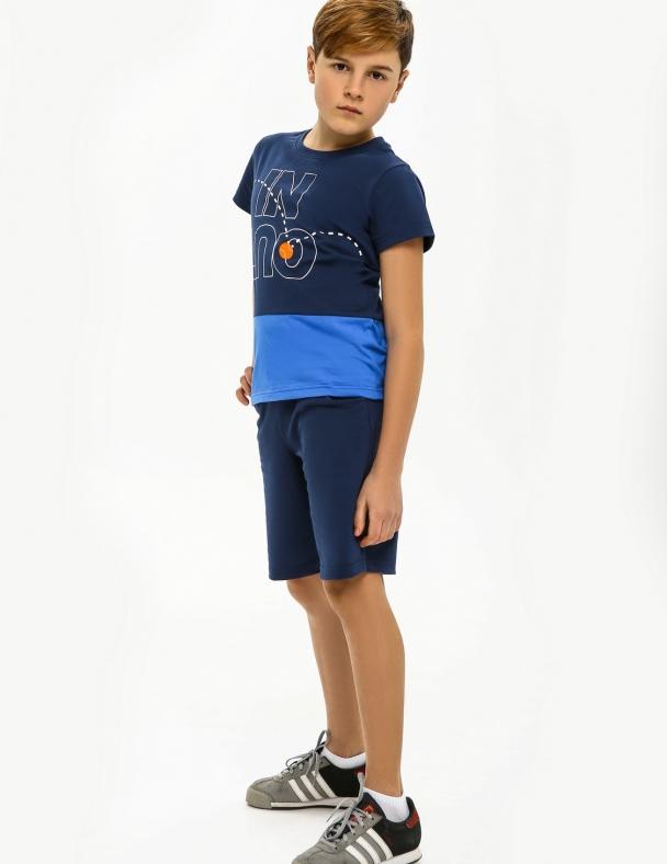 Футболка SMIL 110585 Серо-синий - изображение 2