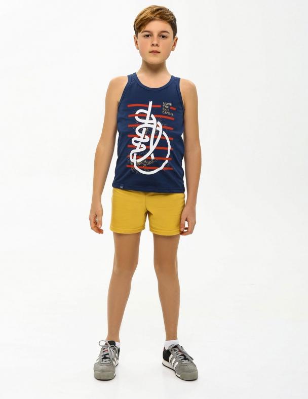 Комплект (майка+шорты) SMIL 113261 Серо-синий - изображение 1