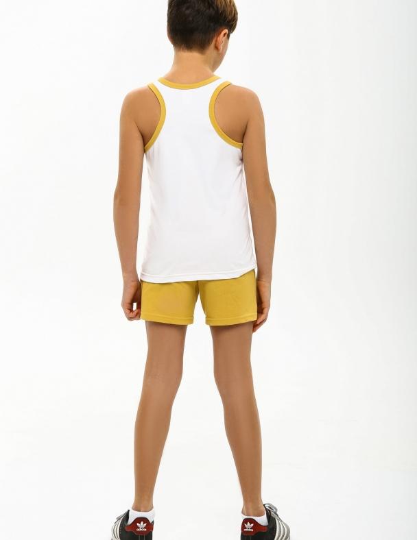 Комплект (майка+шорты) SMIL 113260 Белый - изображение 2
