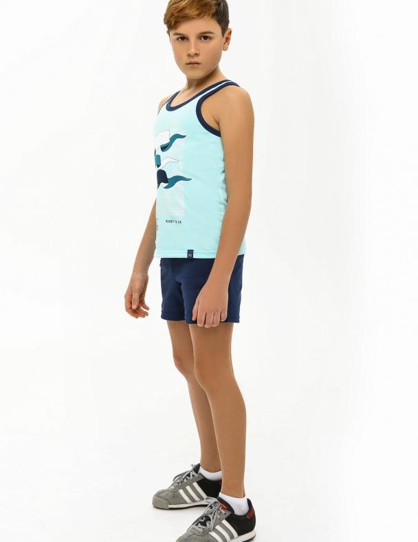 Комплект (майка+шорты) SMIL 113260 Светло-бирюзовый - изображение 1