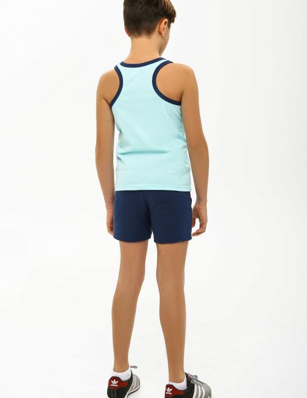 Комплект (майка+шорты) SMIL 113260 Светло-бирюзовый - изображение 2