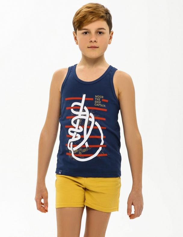 Комплект (майка + шорти) SMIL 113260 Сіро-синій - изображение 1