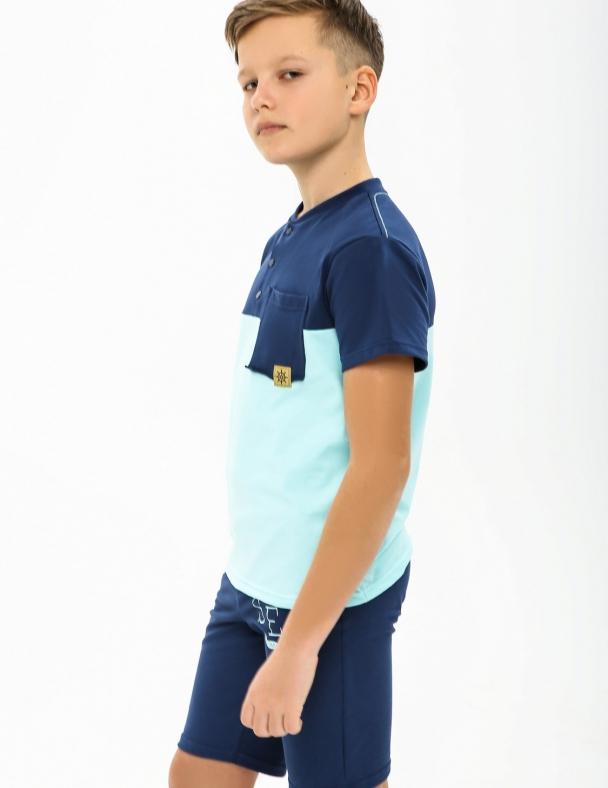 Футболка SMIL 110551 Серо-синий - изображение 1