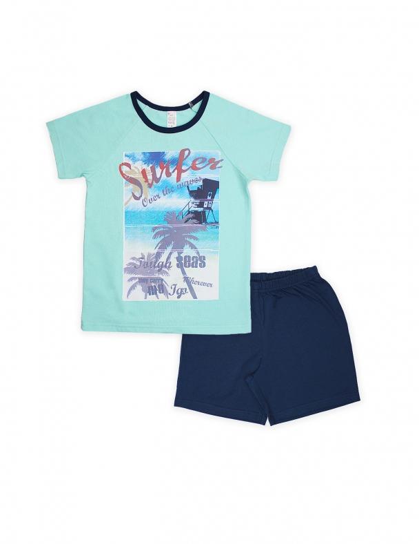 Пижама SMIL 104482 Светло-бирюзовый - изображение 1