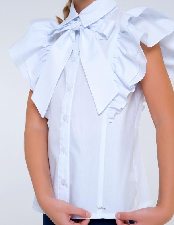 Блузка к.р. SMIL 114752 Білий - изображение 3