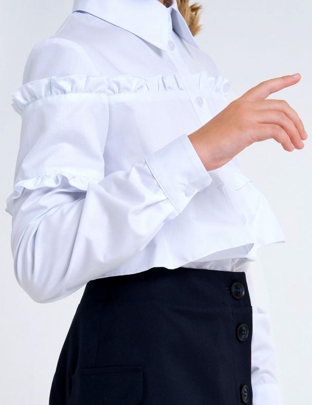 Блузка д.р. SMIL 114760 Белый - изображение 2