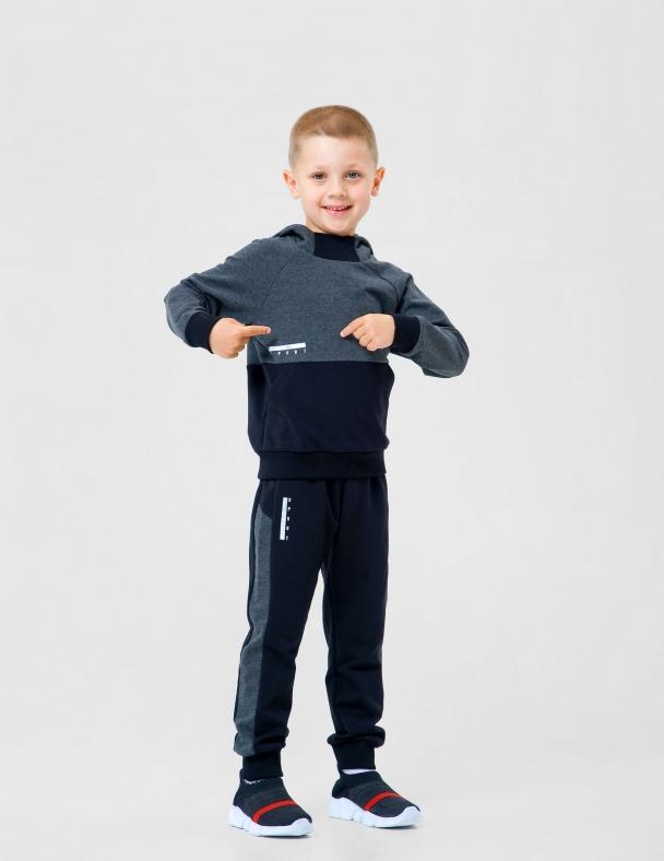 Костюм (куртка+ брюки) SMIL 117233 Темно-серый меланж