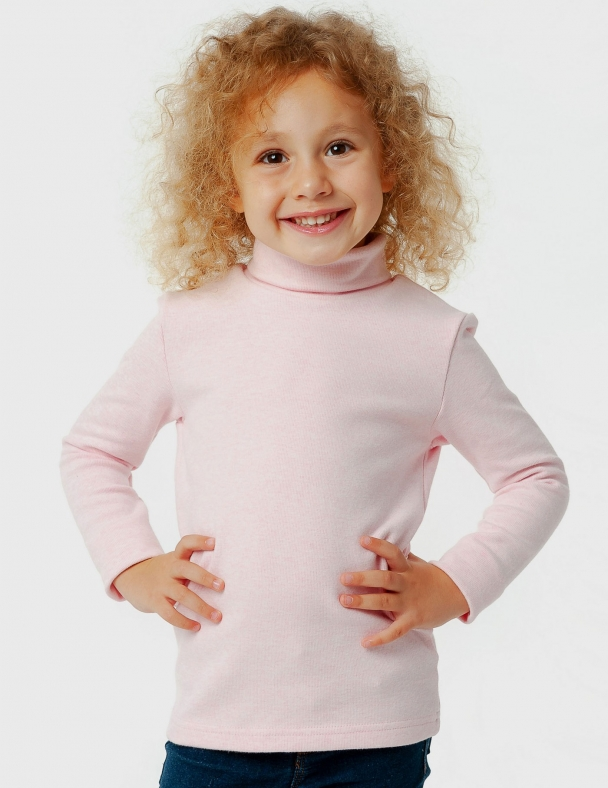 Гольф-стойка с отворотом SMIL 114751 Розовый меланж