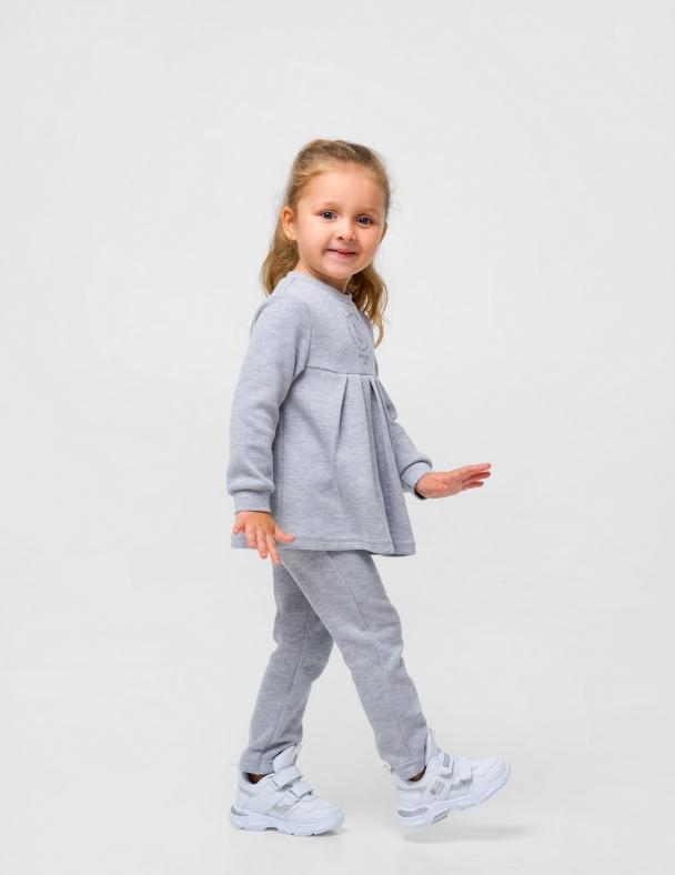 Костюм (кофта+штанишки) SMIL 117253 Серый меланж