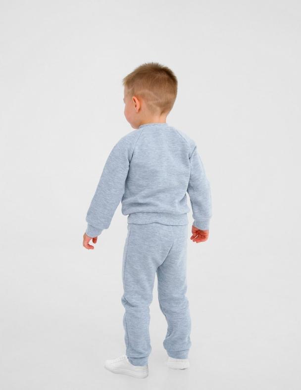 Костюм (кофта+ штанишки) SMIL 117251 Серый меланж - изображение 4