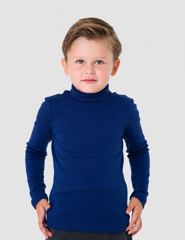 Гольф-стойка с отворотом SMIL 114776 Темно-синий - изображение 1