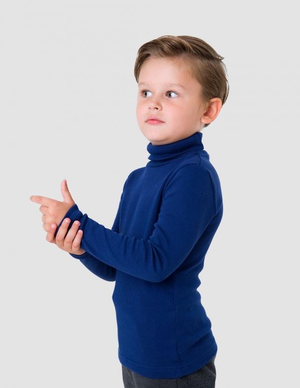 Гольф-стойка с отворотом SMIL 114776 Темно-синий - изображение 3
