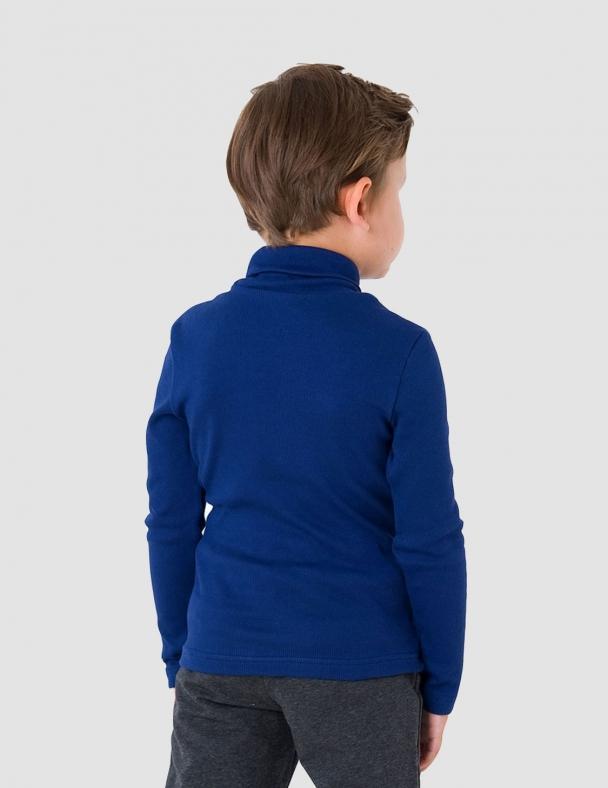 Гольф-стойка с отворотом SMIL 114776 Темно-синий - изображение 5