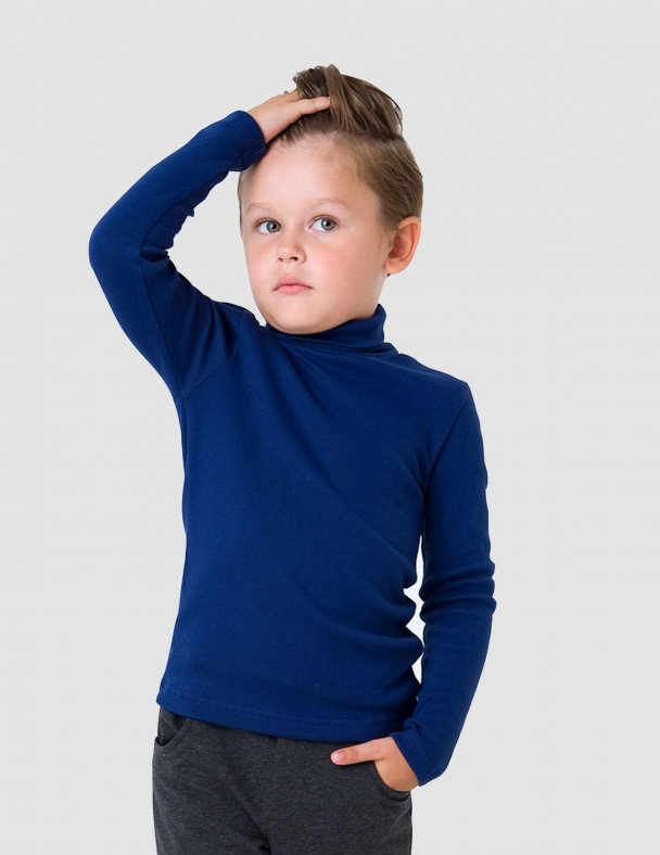 Гольф-стойка с отворотом SMIL 114776 Темно-синий - изображение 4
