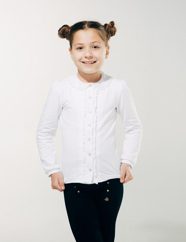 Блуза орні з в'язаним коміром SMIL 114603 Білий
