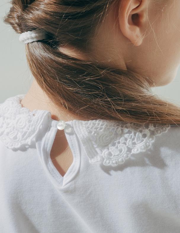 Блуза к.р. з в'язаним коміром SMIL 114601 Білий