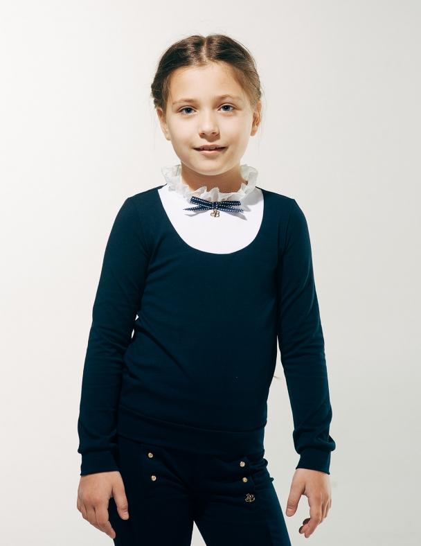 Блуза с манишкой SMIL 114607 Темно-синий