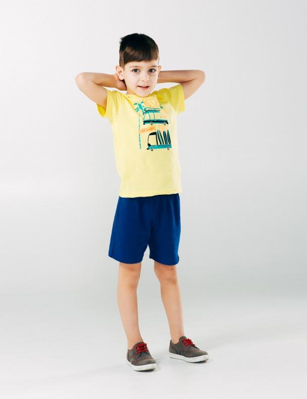 Комплект (футболка і шорти) SMIL 113254 Жовтий - изображение 1