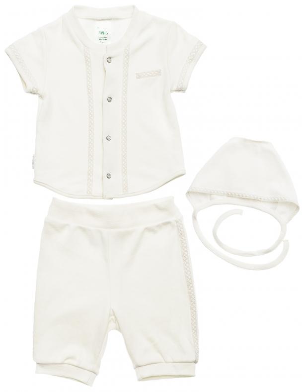 Комплект хрестинний для хлопчика в коробці SMIL 109947 Білий - изображение 1